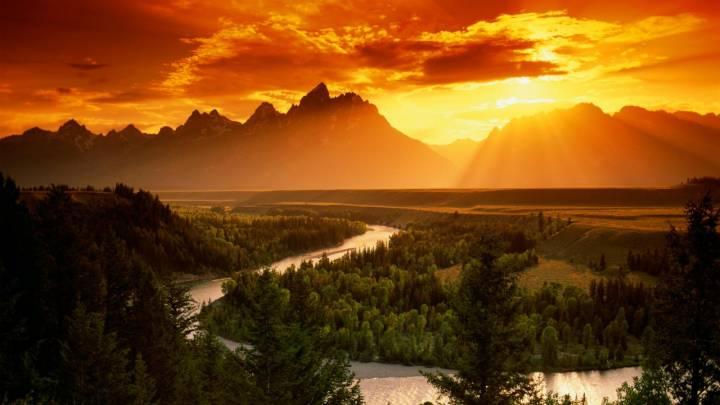 Обои картинки фото горный пейзаж 1600х900