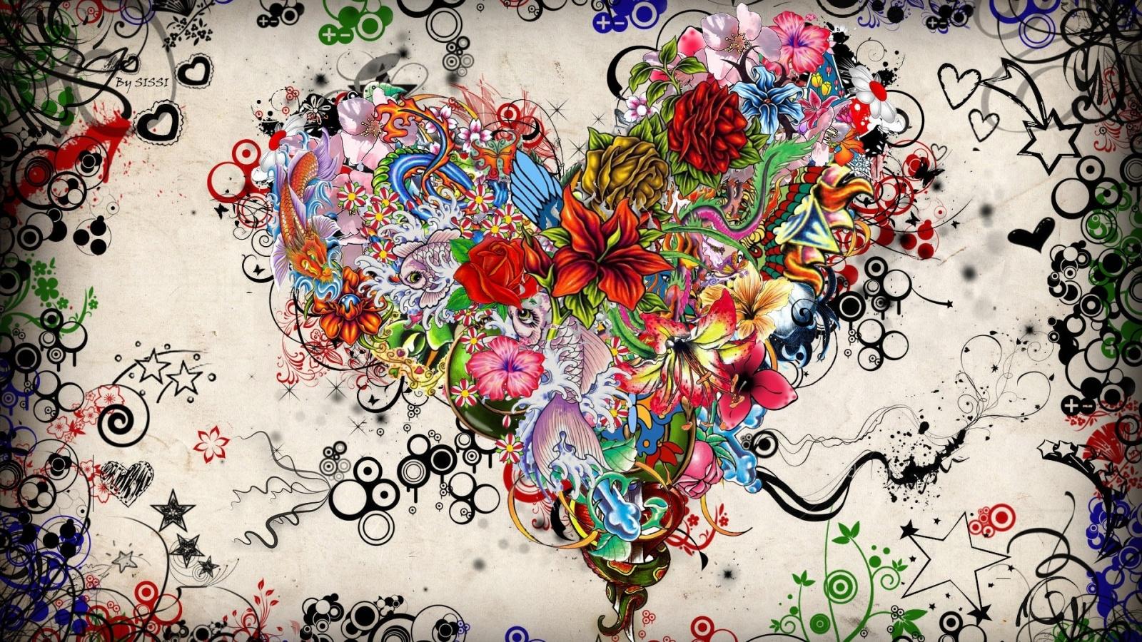 Арт дизайн цветов