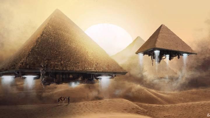 Обои картинки фото пирамиды гизы 1600х900