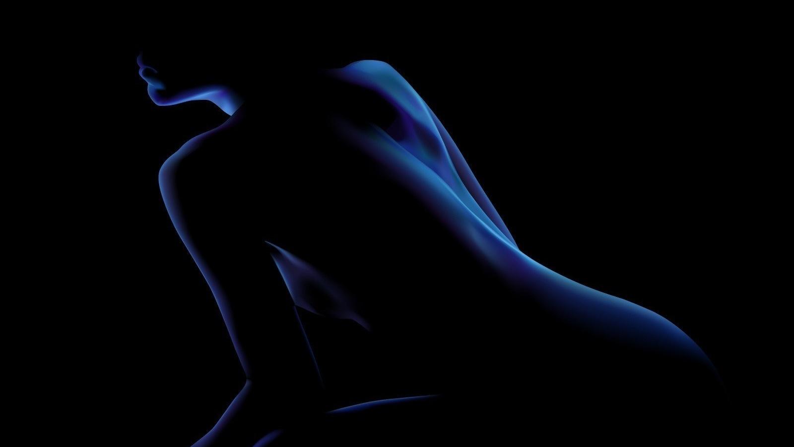 Черно белый силуэт голой девушки 18 фотография